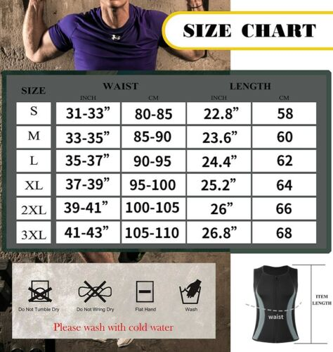 Men Waist Trainer Sauna Suit Long Sleeve Sweat Shirts Vest Body Shaper Tank Tops