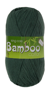 king-Cole-Bamboo-Cotton-4ply-4-x-100g-yarn-job-lot