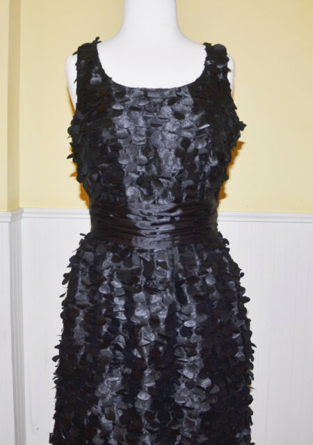 Samuel Dong Black Petal Dress - NWT