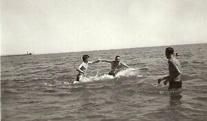 WW-II-German-RP-Army-Soldier-Semi-Nude-Gay-Interest-Bathing-Ocean-1942