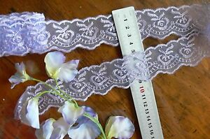 Organza-Embroidered-LaceEdge-LAVENDER-40mmWide-4-5-MetreLength-Sunrise-ft23-FLT1