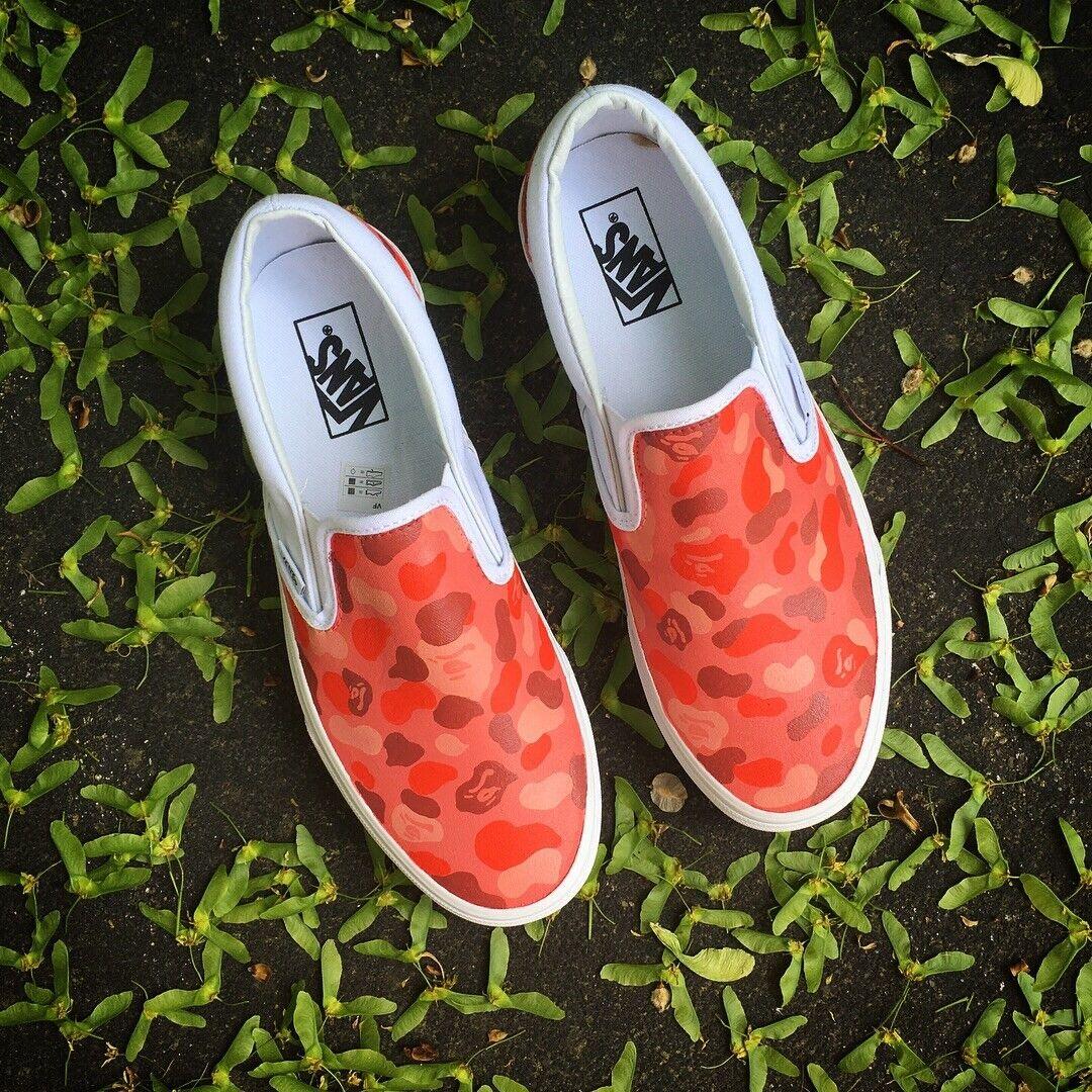 New Custom Camo Camo Camo Vans zapatos 69e218