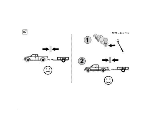Anhängerkupplung Adapter US-Fahrzeuge 32x32mm Für Ford F150//250//350 Explorer