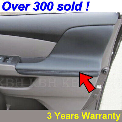 X AUTOHAUX Pair Gray Microfiber Leather Door Panel Armrest Cover Replacement for Honda Odyssey 2011-2017