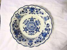 Royal Delft De Porceleyne Fles Blue Floral Wall Plate Holland 1990 Joost Thooft