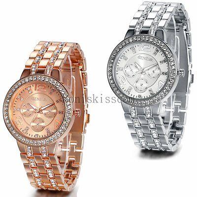 2016 Luxury Women's Men Fashion Watch Stainless Steel Band Quartz Wrist Watches