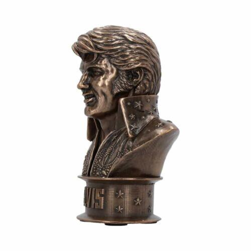 Boxed Nemesis Now Ornament Elvis Presley Small Collectors Bronze Bust Statue
