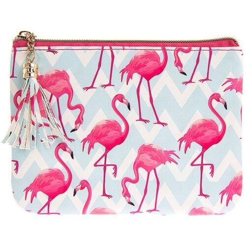 Flamingo Bay Pink Blue Ladies Coin Purse