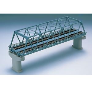 Tomix-3051-Pont-Voie-Double-Double-Track-Truss-Bridge-280mm-Blue-N