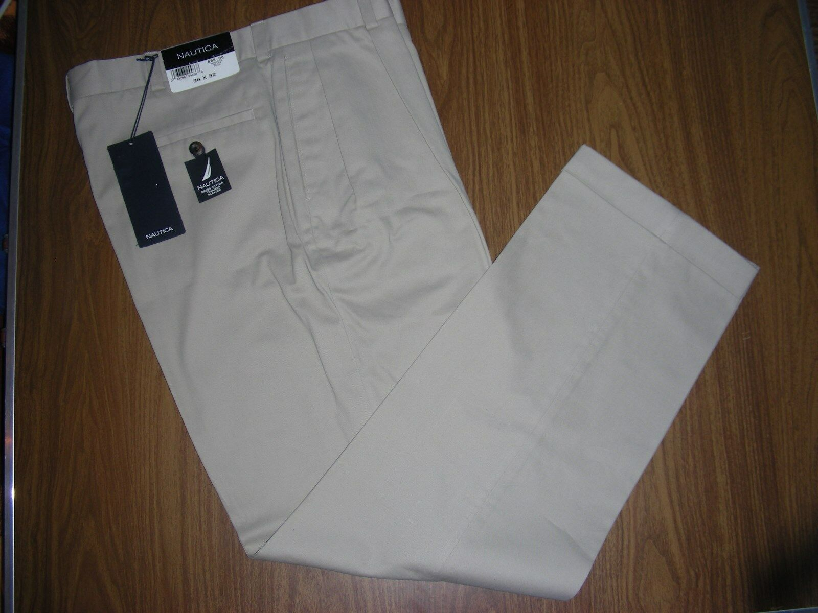 (New) NAUTICA  Mens Stone CLASSIC FIT Casual Pants  Size 36 x 32