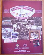 Montreal CANADIEN * Boston BRUINS /2008 original six 6 rare centennial souvenir