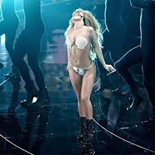 Lady Ga Ga Shell Bra Costume Clam Luau Mermaid Bikini Top Plastic Adult MTV