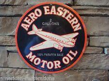 Aero Eastern Motor Oil Advertising Steel Sign Gas Pump Garage Vintage Style New