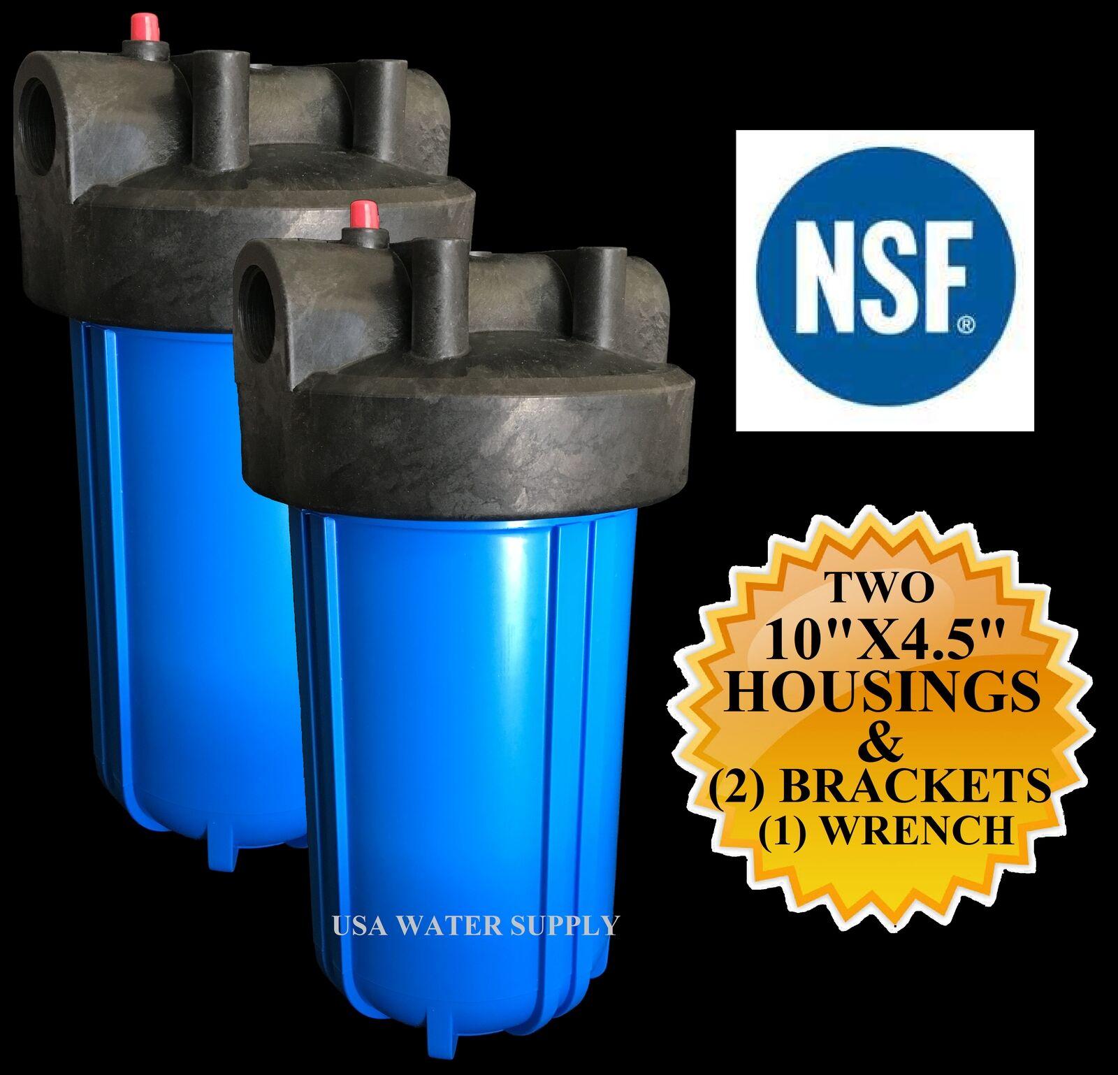 2 BB Filtre à eau logement avec support, Vis & Clé à 3 4  ports 10  X 4.5
