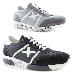 Sneakers uomo estive nere grigie scarpe stringate sportive italiane ... 61232f59e98