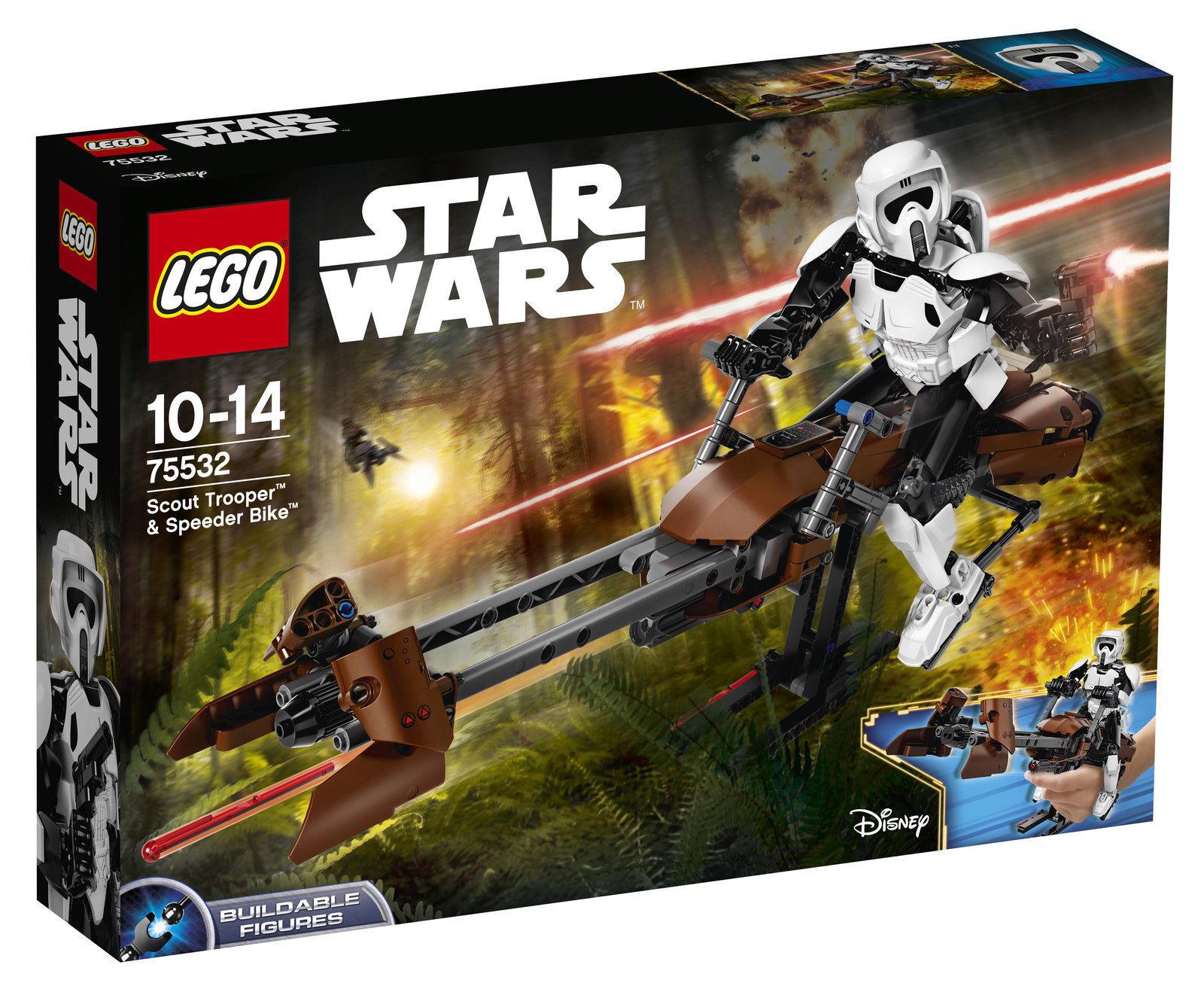 LEGO LEGO LEGO Star Wars Scout Trooper & Speeder Bike 2017 (75532) NEW b706cf