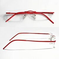 Quality Reading Glasses Aluminum Rimless Unisex Reading Help Red Christmas - Set