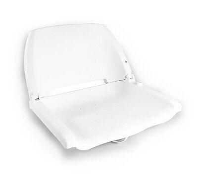 [PRO.TEC]® Bootssitz Bootsstuhl Steuerstuhl Anglerstuhl Klappbar Weiß NEU