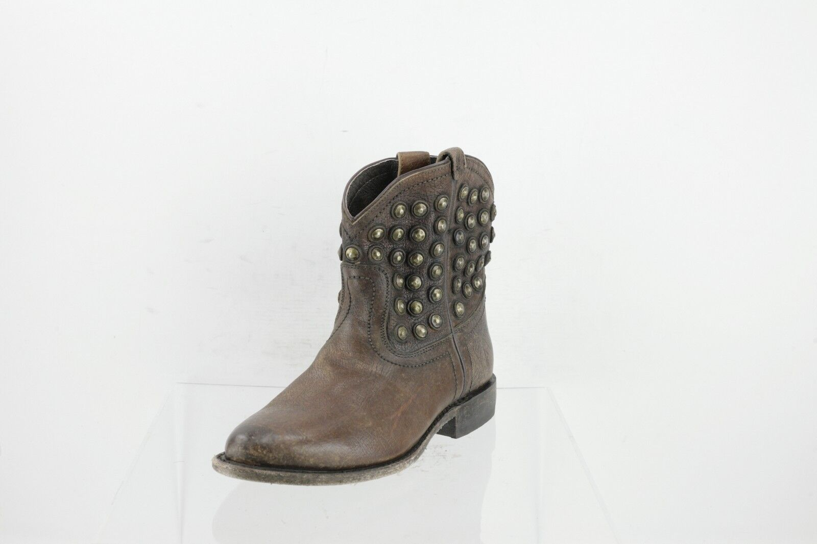 Frye 76684 Wyatt Brown Leather Mid-Calf Boots Women's Shoes Size 6.5 M