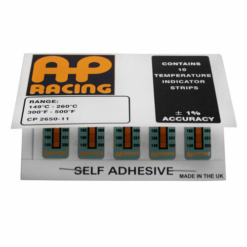 AP Racing Temperature Indication Strips Brake Caliper Pads Disc Race Rally Track
