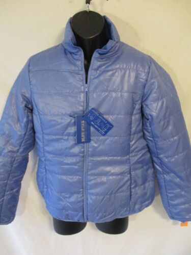 Blue Star Clothing Polyester Solid Blue Packable Puff Jacket NEW