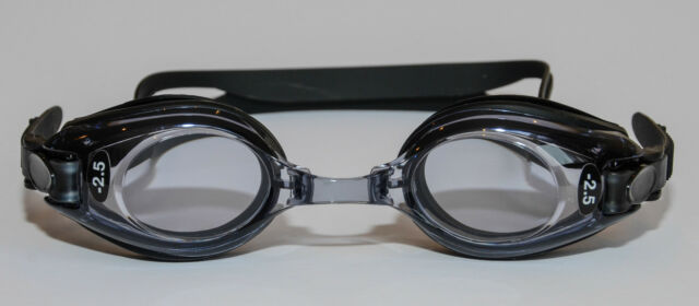Prescription Optical Swimming Goggles Adult Black Minus & Plus  UV Protection