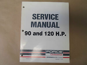 force outboards 90 120 hp 90 120 service shop repair manual boat us rh ebay co uk Mercury Force 120 Parts Mercury Force 120 Parts