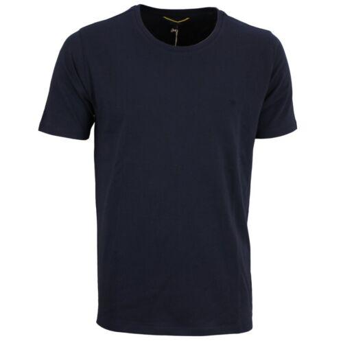 Camel active Herren T-Shirt Rundhals Basic blau unifarben 9T19 409438 18