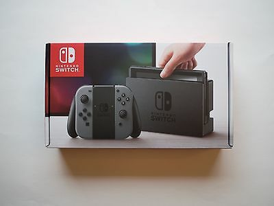 NINTENDO SWITCH - GREY JOY-CON - FACTORY SEALED - IN HAND!