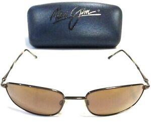 RARE MAUI JIM SOUTH SHORE SUNGLASSES Brown w/ Bronze Polarized Lenses MJ 115-19