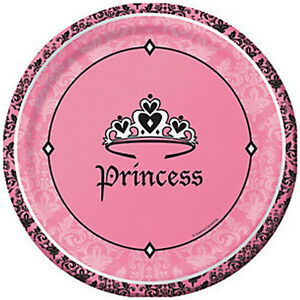 Image Is Loading 1st BIRTHDAY Royal Princess LARGE PAPER PLATES 8