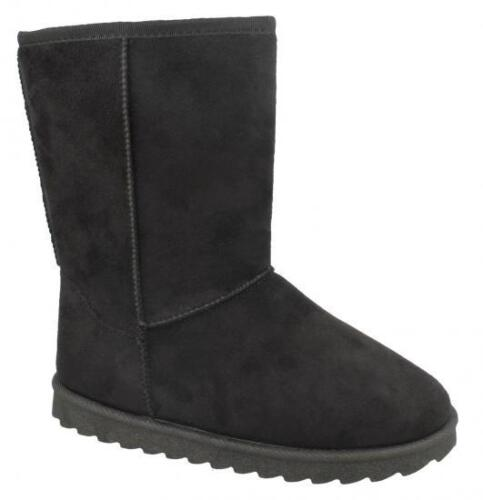 Black /& Tan H4141 Great Price! Girls Mid Leg Fleece Lined Ankle Boots