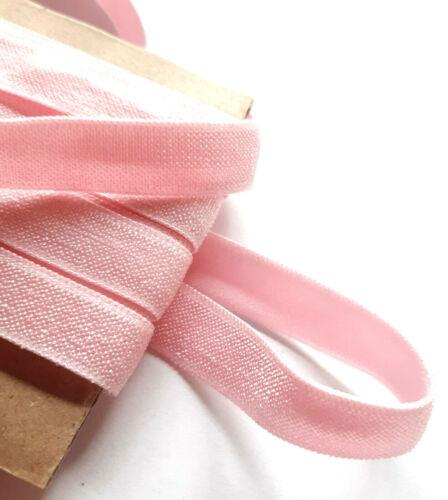 1,20m banda de viga de ropa interior de goma rosa pálido fondos fuerte tren brillo satinado 11mm