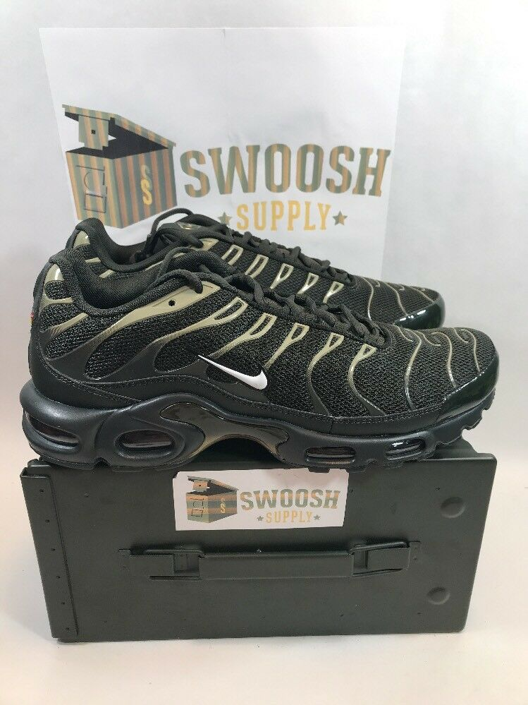 Nike Air Max Plus 852630 301 Sequoia Green Olive New Mens Comfortable
