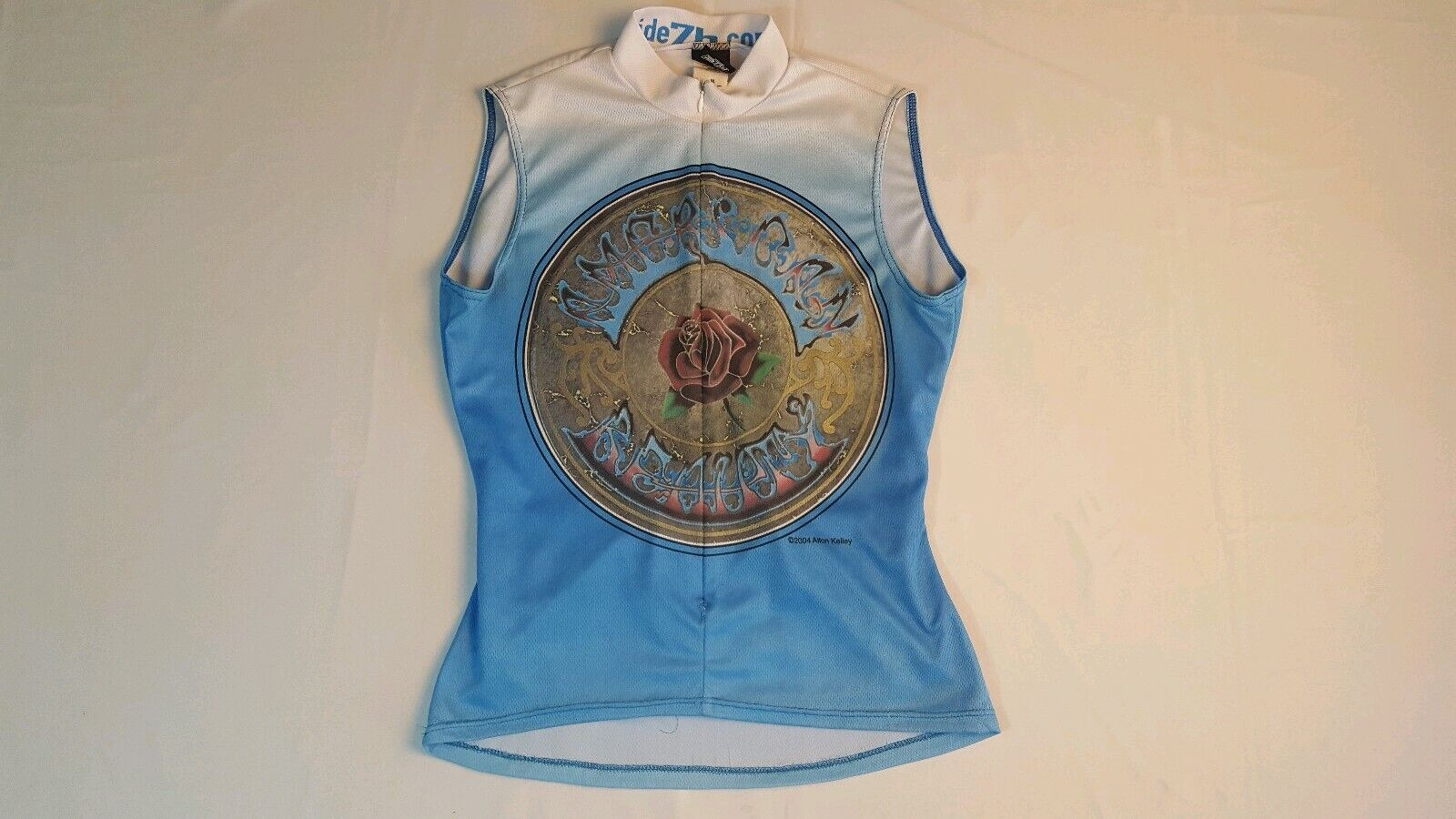 Grateful Dead Sleeveless Cycling Tee Size M 2004 American Beauty Biking Bike