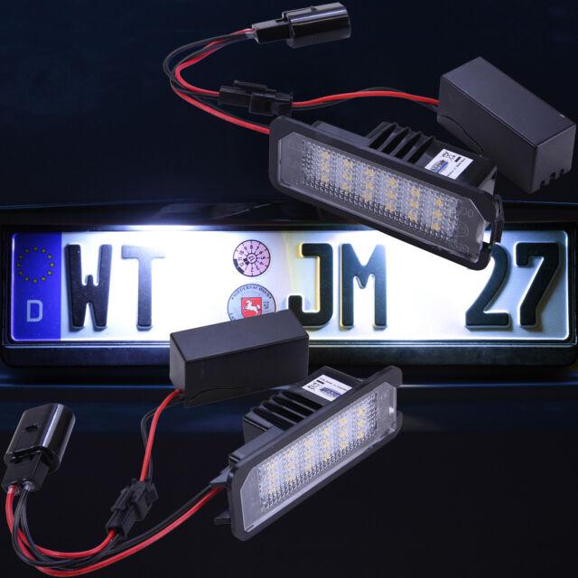 LED Kennzeichenbeleuchtung für VW Golf 4 5 6 Passat B6 B7 Lupo Polo 9N 6R [7401]