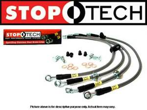 STOPTECH STAINLESS STEEL SS BRAIDED FRONT BRAKE LINES FOR 05-15 TOYOTA TACOMA