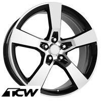 20 Inch 20x8 20x9 Camaro Ss Replica Black Machined Wheels Rims Fit Camaro 10-17