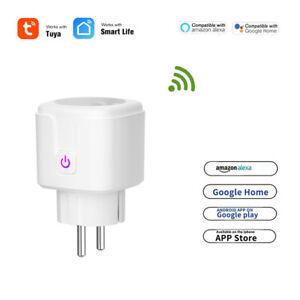 16A-Tuya-WIFI-Smart-Steckdose-EU-Stecker-APP-Remote-Control-Intelligente-Socket