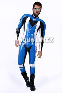 Rubber Latex Moto Suit Great Catsuit with Custom Logo Gummi Zentai Costume