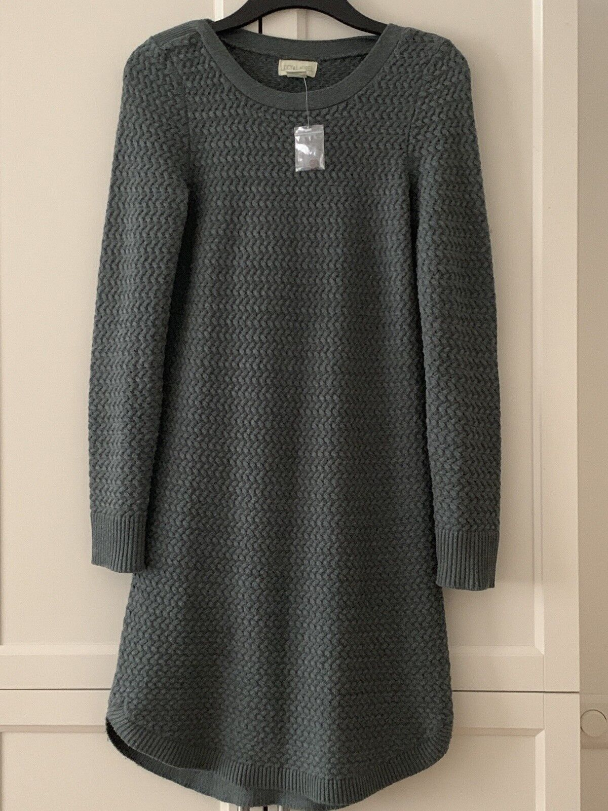Strick Kleid Grün Schilfgrün Gr S Neu