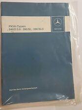Einführung in den Kundendienst Mercedes 240D 3.0, 280SL, 280SLC  1974