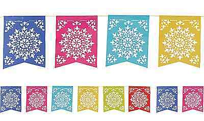 Del Sol Flag Banner Mexican Fiesta Decorations Cinco De Mayo Spanish Party ~ 12'