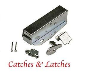 2 X Loft Door Catches Latches Attic Hatch Push Touch Cabinet