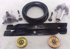 "Poulan Pro PR1842STC 42"" Lawn Tractor Deck Rebuild Kit Blades Belt Pulleys"