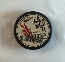 Vintage Signed CHL Fort Worth Fire Vintage Official FW Logo Hockey Puck