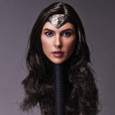 1//6 Gal Gadot Head Model Wonder Woman Head Sculpt Fit 12/'/' PH Figure Body