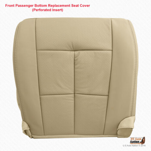 2013 2014 Lincoln Navigator PASSENGER Bottom Perforated Leather Cover Camel Tan