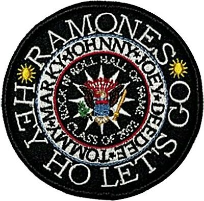 Ramones Hey Ho... round sew-on cloth patch  (mm)