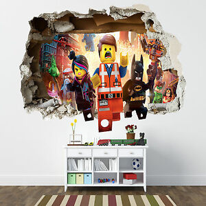 Charmant Image Is Loading LEGO MOVIE SMASHED WALL STICKER BEDROOM BOYS GIRLS